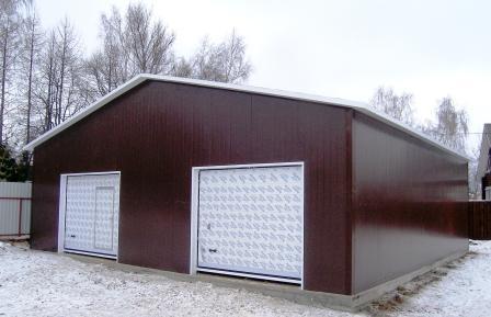строительство гаража, строительство гаража на участке